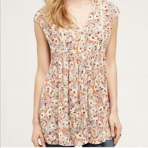 ✨ANTHROPOLOGIE✨ anthro floral tunic